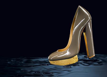 Ланвин 2011 Пролет-Лято Обувки с Висок Ток и Платформа