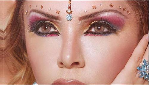 3 цвята сенки - арабски грим