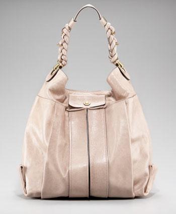 Клои кожена бежова чанта