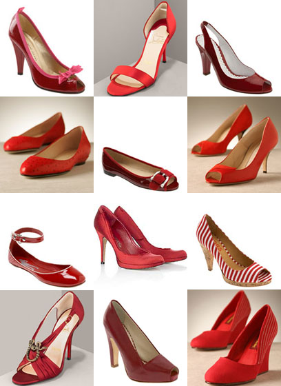 Червени обувки - сватбена колекция