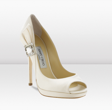 Джими Чу 2011 Елегантни Бели Обувки с Катарама
