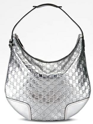 Gucci сребриста голяма чанта