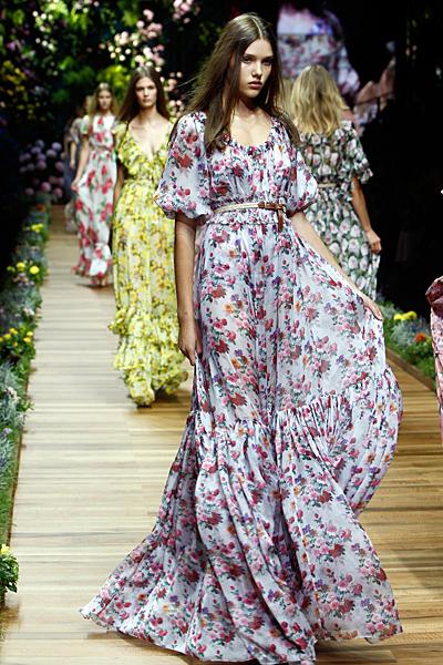 Dolce and Gabbana макси рокля с висока талия