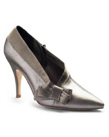 Сваровски - обувки металик
