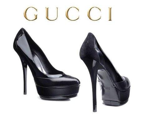 gucci високи обувки на тройна платформа