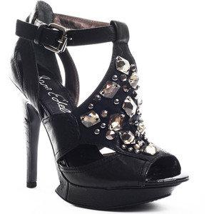 Сам Еделман черни сандали с камъни
