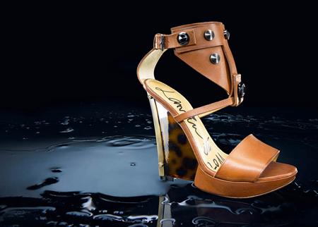 Ланвин 2011 Пролет-Лято Кафяви Обувки с Висок Ток и Капси