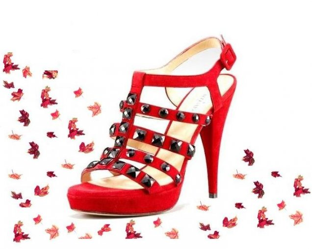 Валентино сандали със скъпоценни камъни