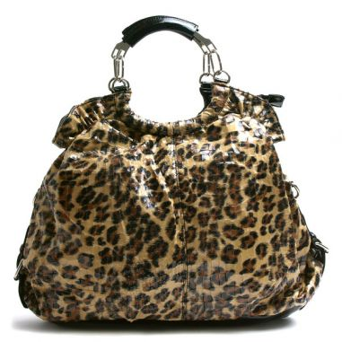 Леопардова чанта тип торба