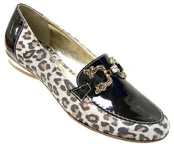 Равни дамски обувки леопард