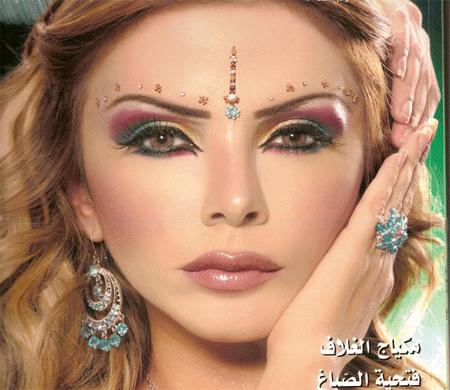Арабски грим с 3 цвята и ефектно очертани очи