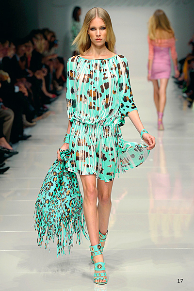 Blumarine ефирна тюркоазена рокля