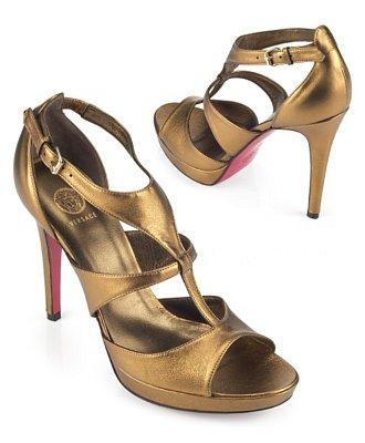 Версаче сандали металик на ток с Т-каишка