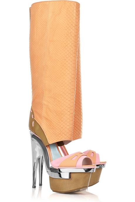 versace изрязани ботуши на платформа