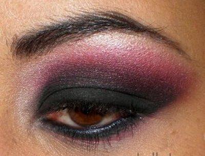 Комбинация  горещо розово и черно