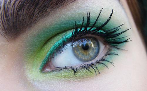 Зелен опушен грим