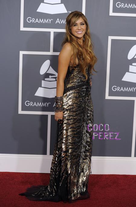 Майли Сайръс в Роберто Кавали 2011-Награди Грами
