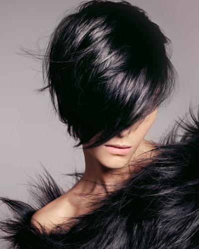 черна коса блокиране на лице