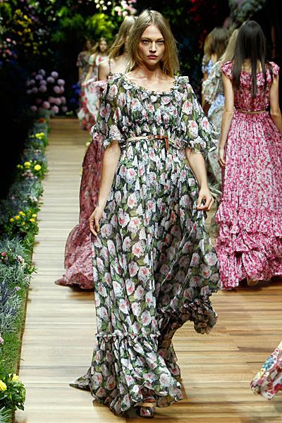 Dolce and Gabbana макси рокля с големи цветя