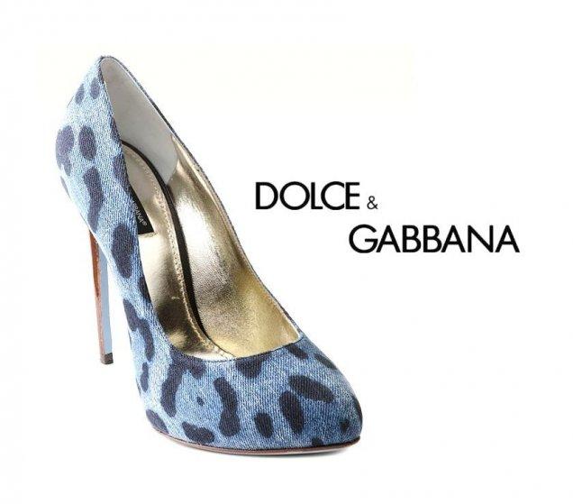 Долче и Габана дънкови обувки - леопард