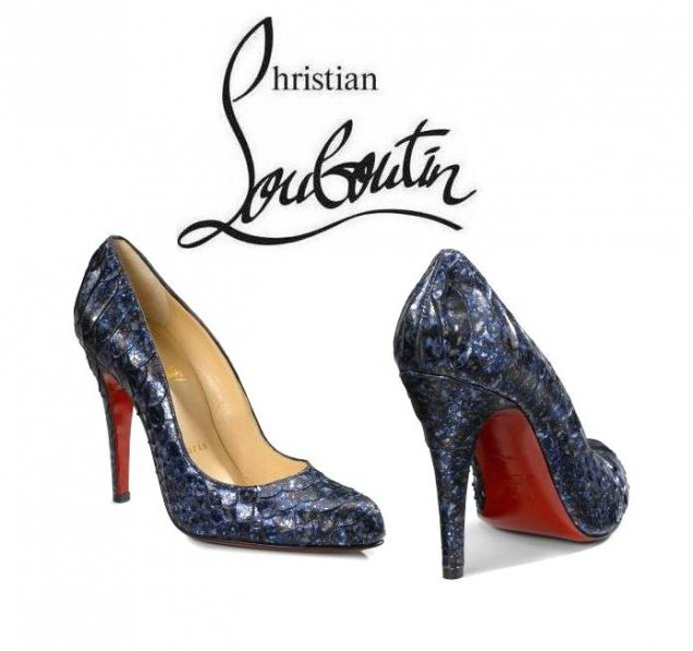 Кристиан Лоботин обувки на ток питон
