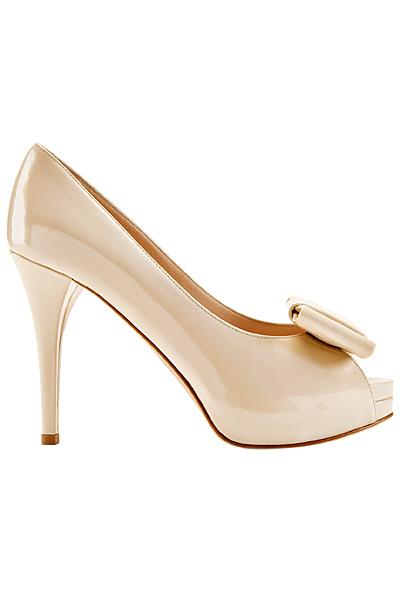 Furla 2011 лачени бели обувки с отворени пръсти