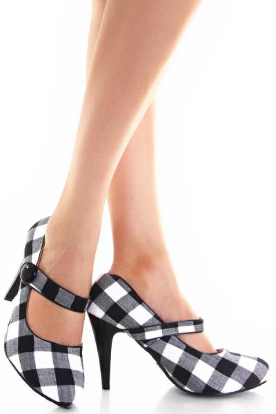Черно бели обувки Джейн Бъфало