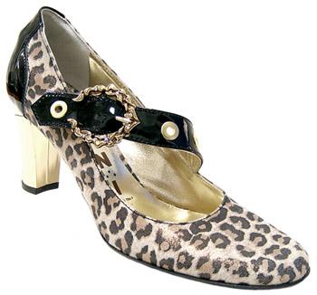 Елегантни дамски обувки леопард
