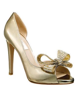 Кожени сандали с панделка от скъпоценни камъни - Валентино