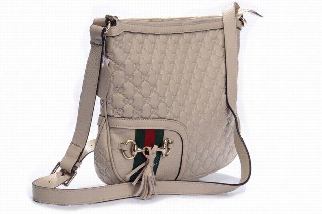 gucci - бежова чанта с дълги дръжки