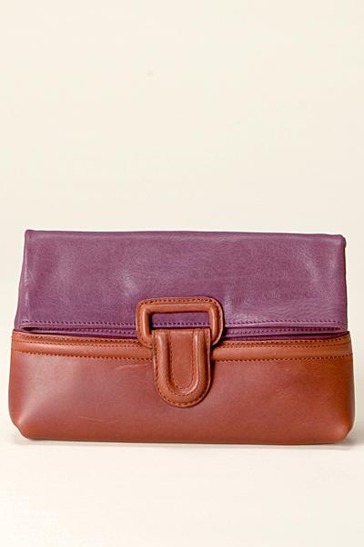 Малка чанта портмоне лилаво и кафяво Vanessa Bruno Есен-Зима 2011