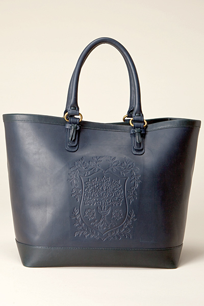 Синя чанта от твърда кожа Vanessa Bruno Есен-Зима 2011