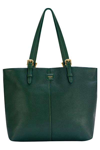 Голяма маслено зелена чанта кожа Jaeger Есен-Зима 2011