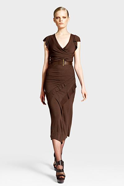 Кафява рокля без ръкави под коляното Предесенна колекция Icons от Diane von Furstenberg 2011