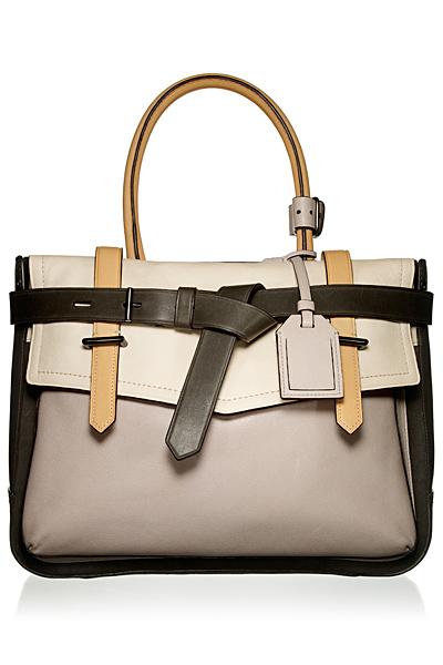Голяма ежедневна чанта с три цвята кожа Reed Krakoff Есен-Зима 2011