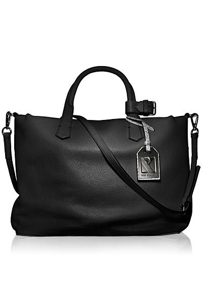 Широка черна чанта от кожа Reed Krakoff Есен-Зима 2011