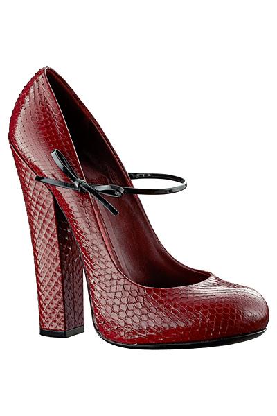 Червени обувки на ток с каишка Louis Vuitton Есен-Зима 2011
