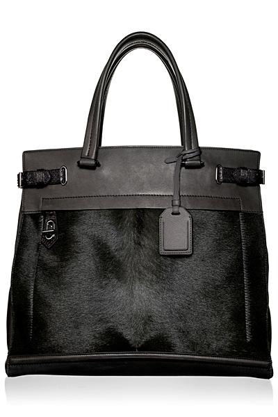 Чисто черна много стилна голяма чанта Reed Krakoff Есен-Зима 2011