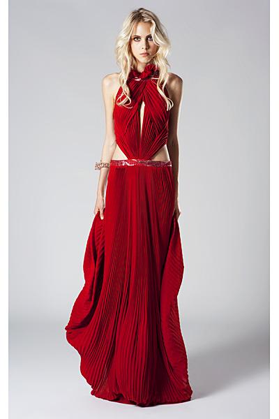 Roberto Cavalli 2011 червена дълга коктейлна рокля