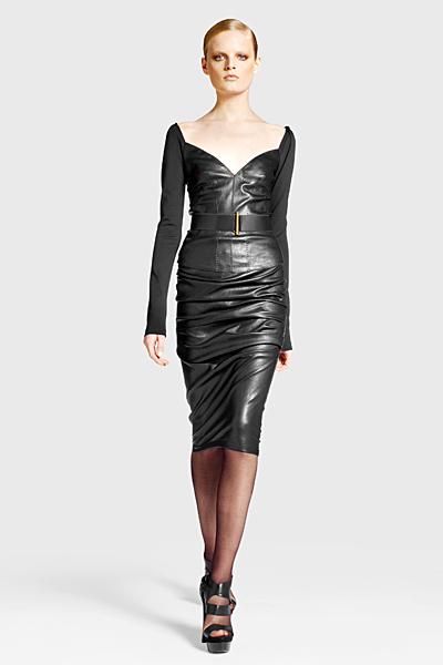 Кожена рокля под коляното Предесенна колекция Icons от Diane von Furstenberg 2011