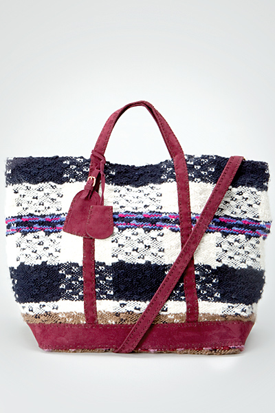 Тестилна голяма чанта каребяло, черно и розово Vanessa Bruno Есен-Зима 2011