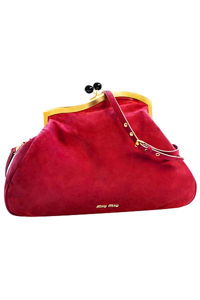 Малка червена чанта Miu Miu Есен-Зима 2011