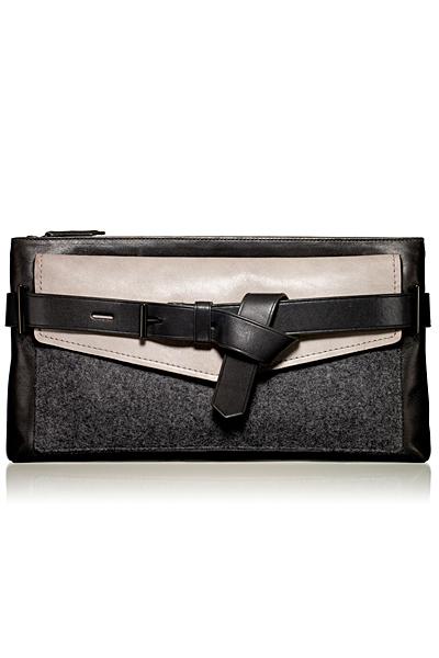 Кожена малка вечерна чанта с лице от текстил Reed Krakoff Есен-Зима 2011