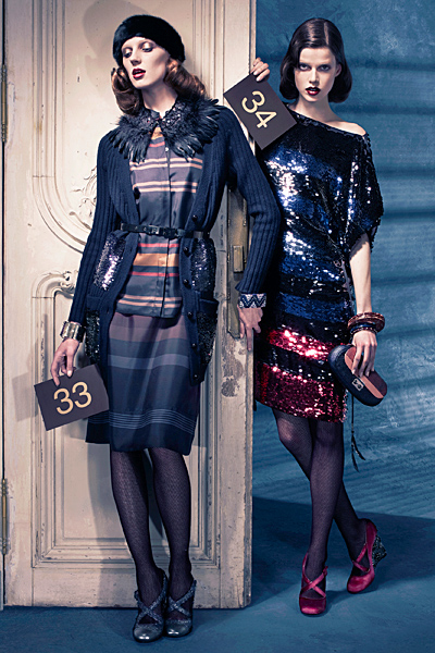Предесенна колекция на Louis Vuitton за 2011 рокля с пайети