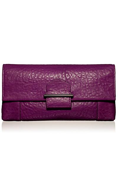 Чанта портмоне от лилава кожа Reed Krakoff Есен-Зима 2011