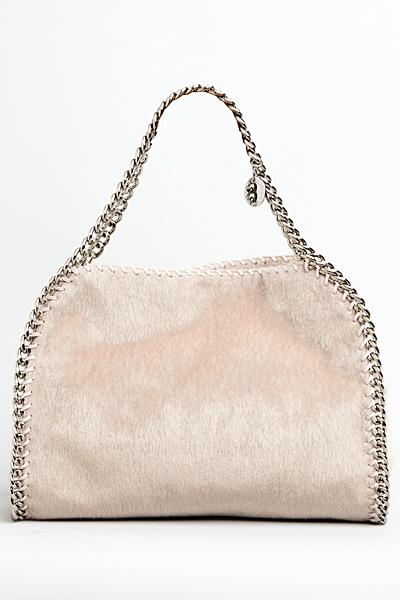 Голяма бежова чанта с къса дръжка Stella McCartney за Есен 2011