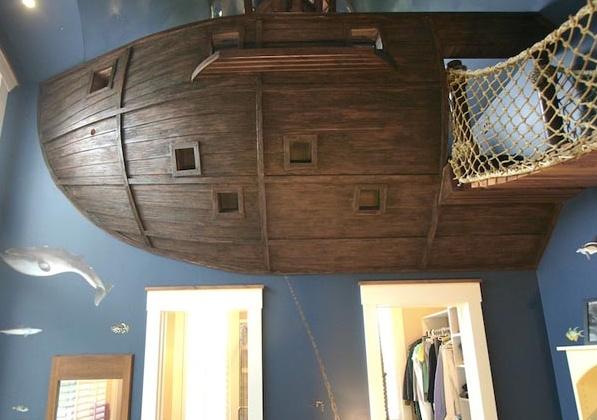 детска стая с кораб