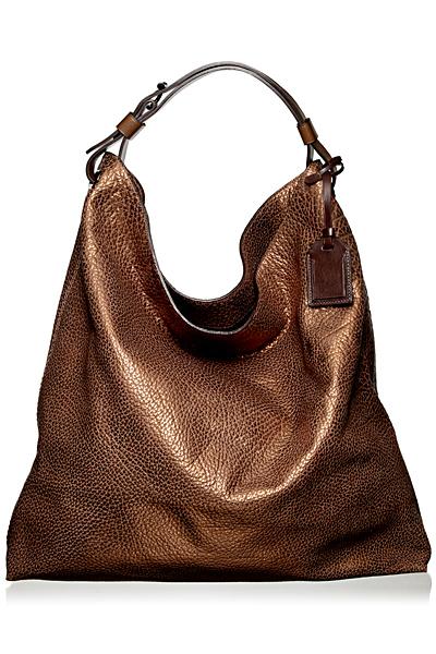 Чанта тип чувал в кафяво с леки металик отблясъци Reed Krakoff Есен-Зима 2011