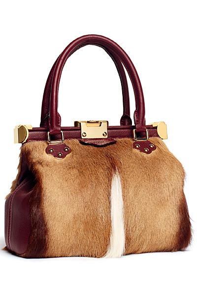 Червена чанта средна с декорация кожа Emilio Pucci Есен-Зима 2011