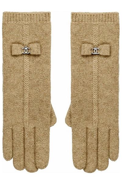 Ръкавици плетени с малки панделки Chanel за есен и зима 2011